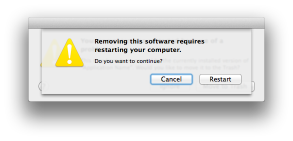 If your Mac spontaneously restarts or displays a message