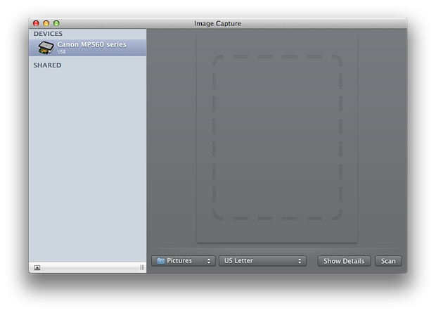 how to operate scanner on mac