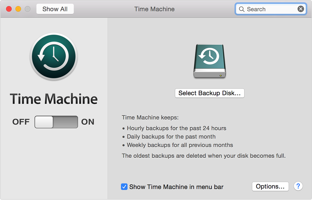 time machine harddrive
