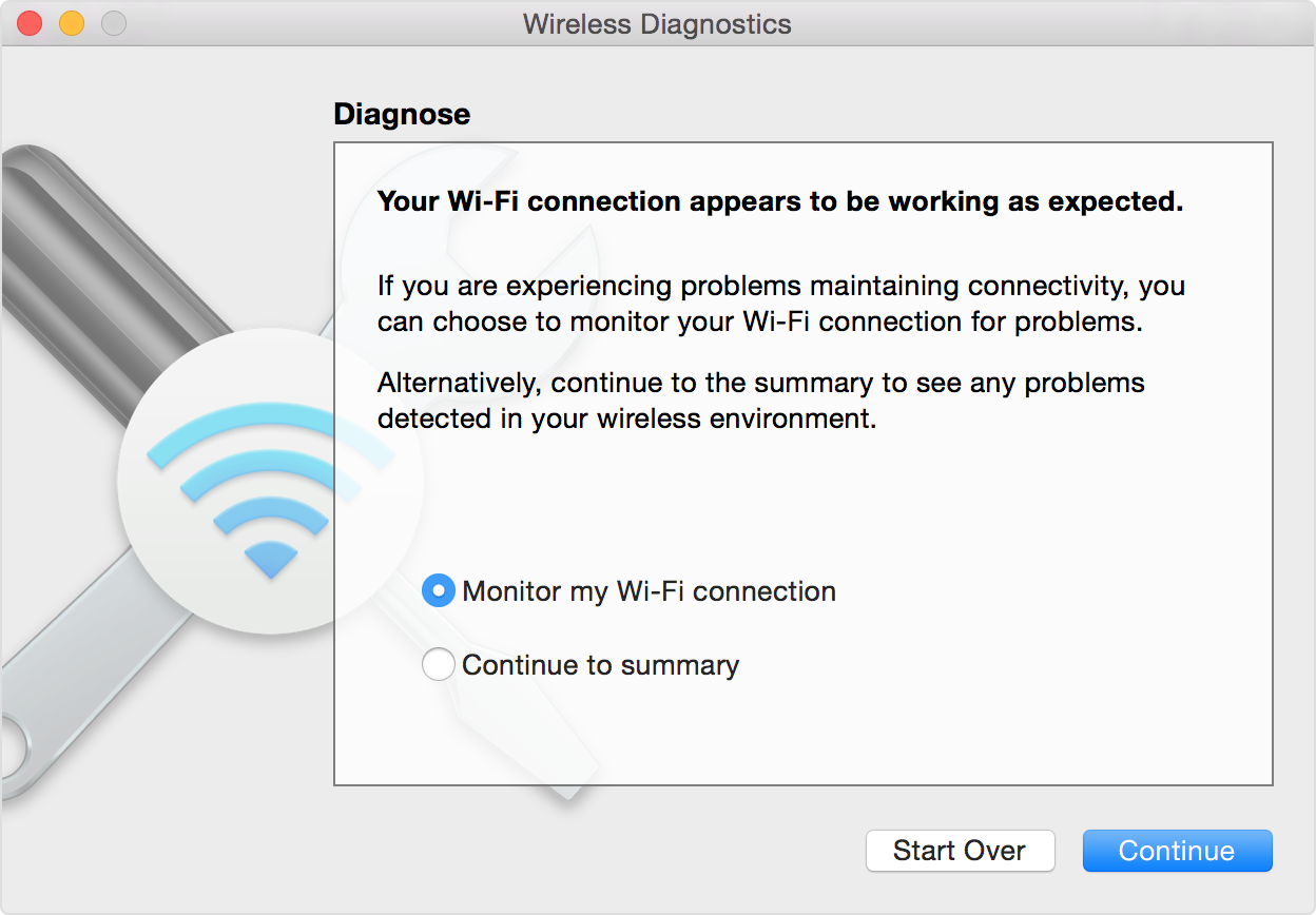 Check for Wi-Fi issues using your Mac