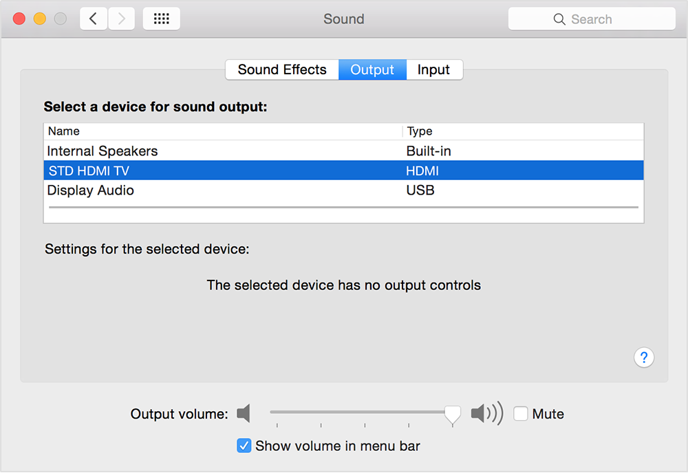 connect mac to tv and get sound