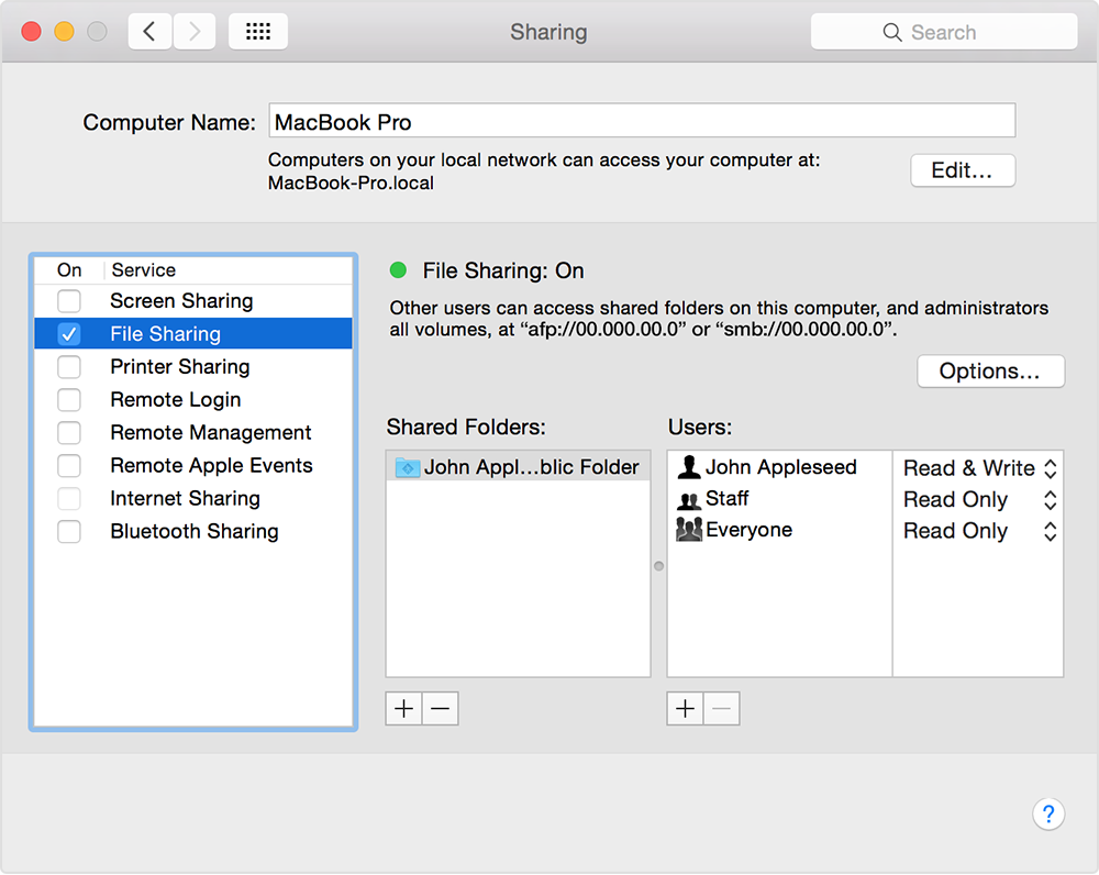 How to connect with File Sharing on your Mac - Apple Support