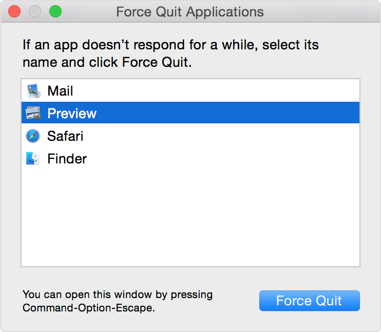 learn more you can also force the finder to quit