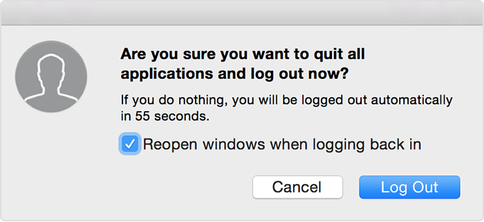 log out of a mac