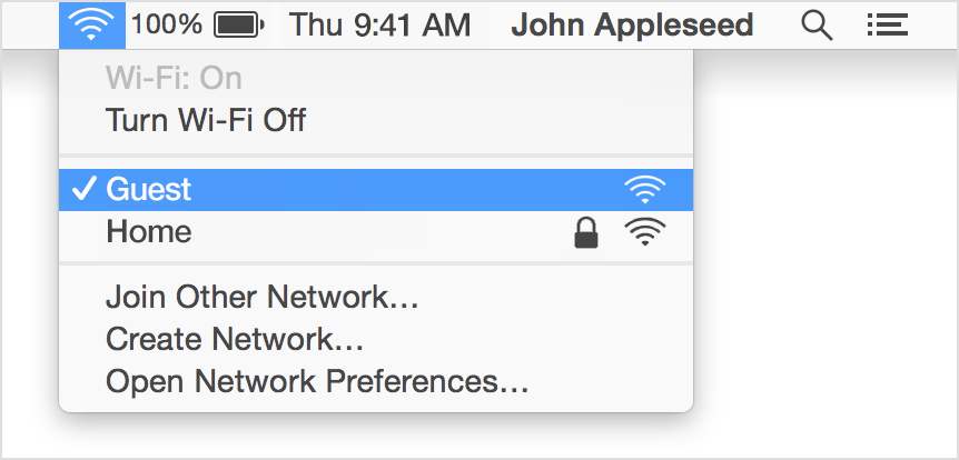 Manage the Wi-Fi connection on your Mac