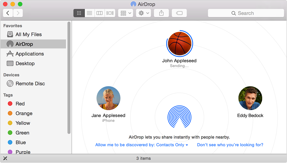 Airdrop Lets You Send Files From Your Mac To Nearby Macs And Ios Devices  Over Wireless