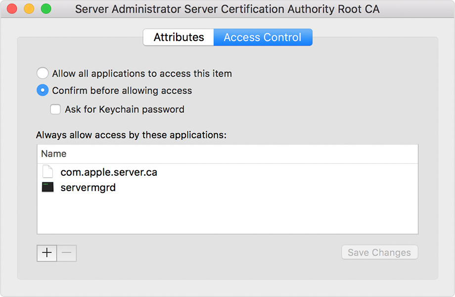 Verify your certificates for macOS Server 5 3 and earlier