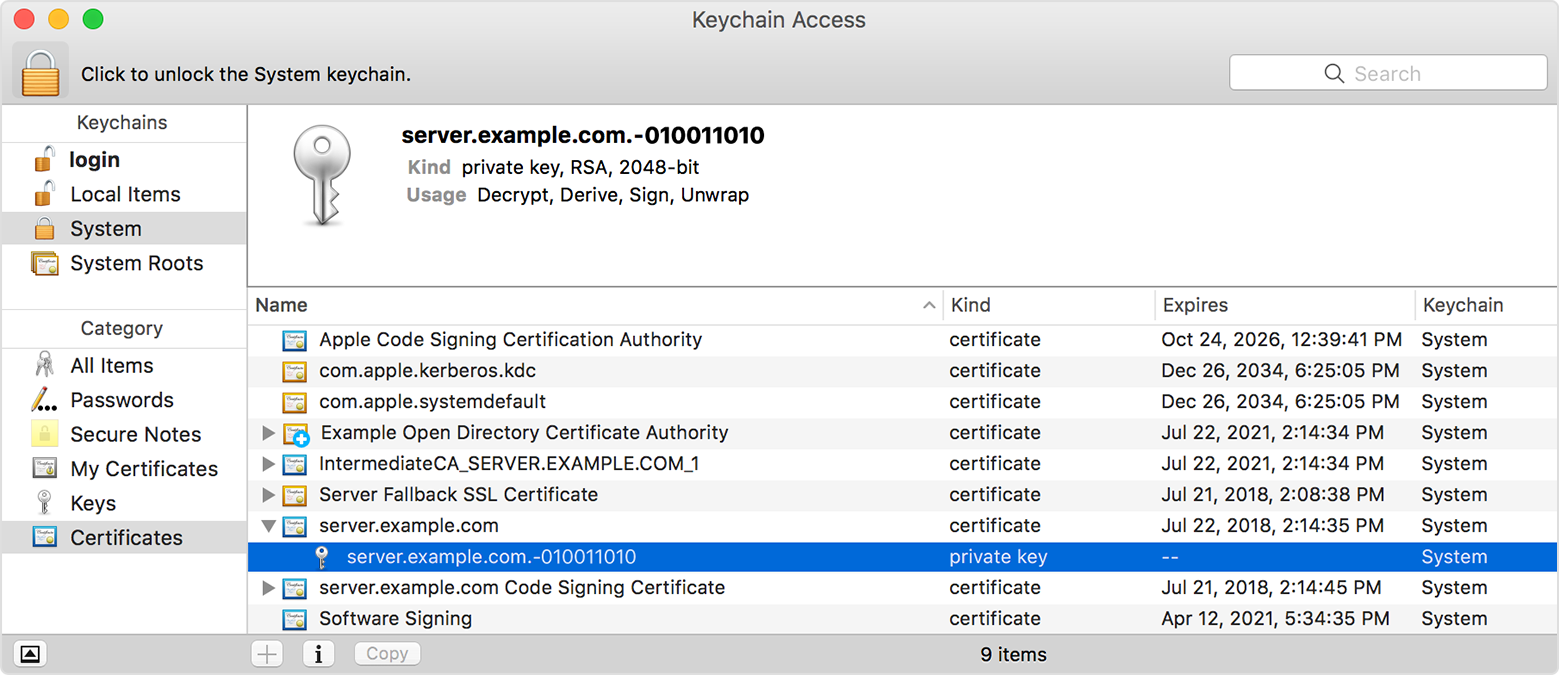 Verify Your Certificates For Macos Server Apple Support