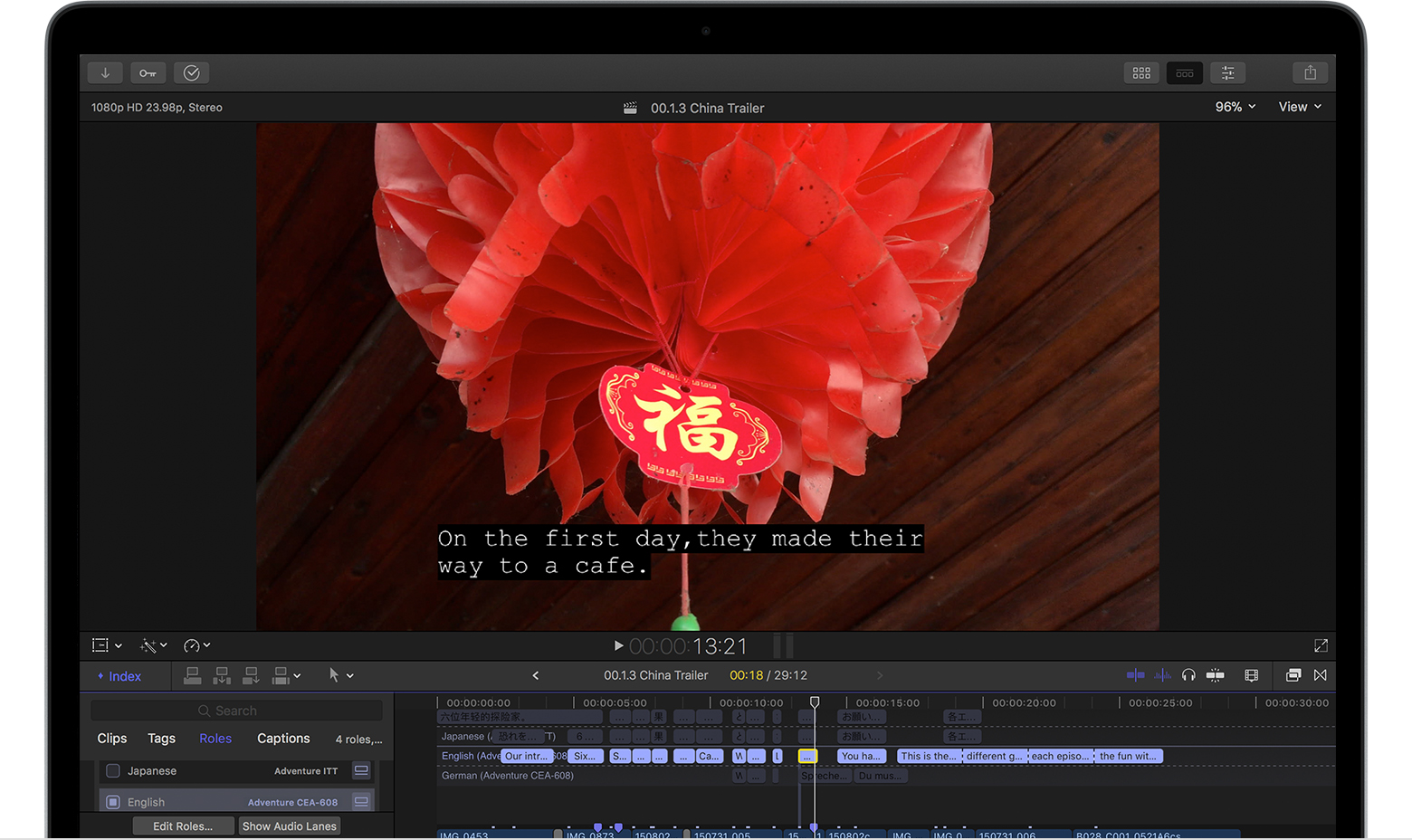 Use captions in Final Cut Pro X and Compressor - Apple Support