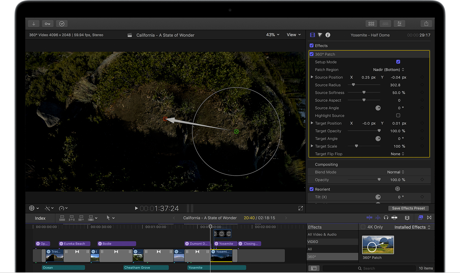 Edit 360° video in Final Cut Pro X 10 4 - Apple Support