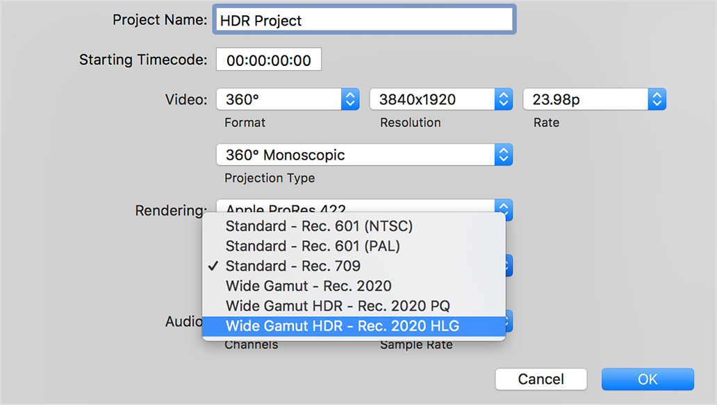 Work with High Dynamic Range (HDR) video in Final Cut Pro X