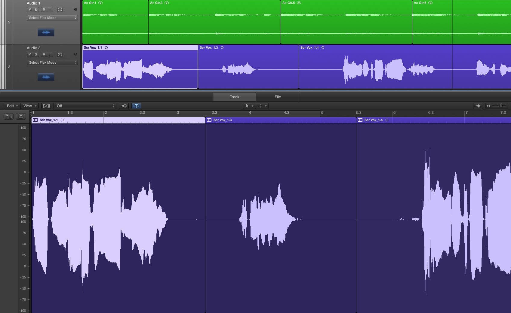Logic Pro X: Understanding how take folders and the Audio Editor