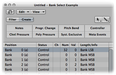 Logic Pro/Express 9: Defining Custom Bank Messages - Apple