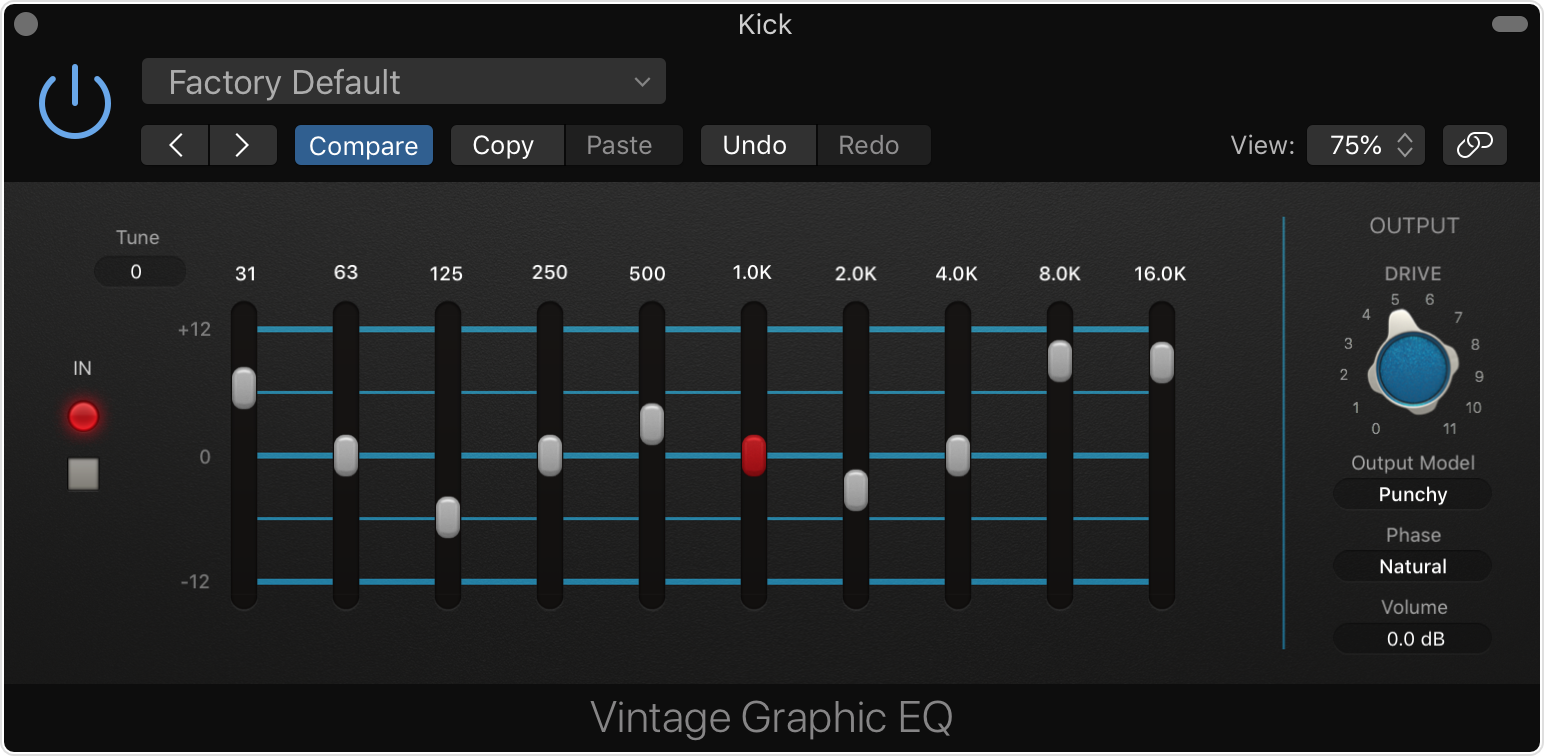 About Vintage Eqs In Logic Pro X And Mainstage Apple Support Schematic For A 3 Band Equalizer Circuit On Tone Control The Graphic Eq Plug Emulates Classic Mixing Console Module Each Of Bands Provides 12 Db Cut Or Boost With Proportional