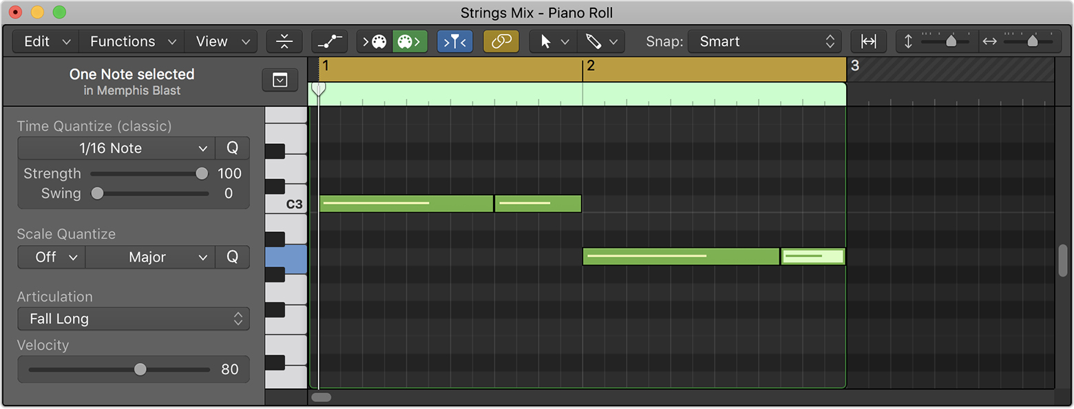 Use Studio instruments to create realistic string and horn