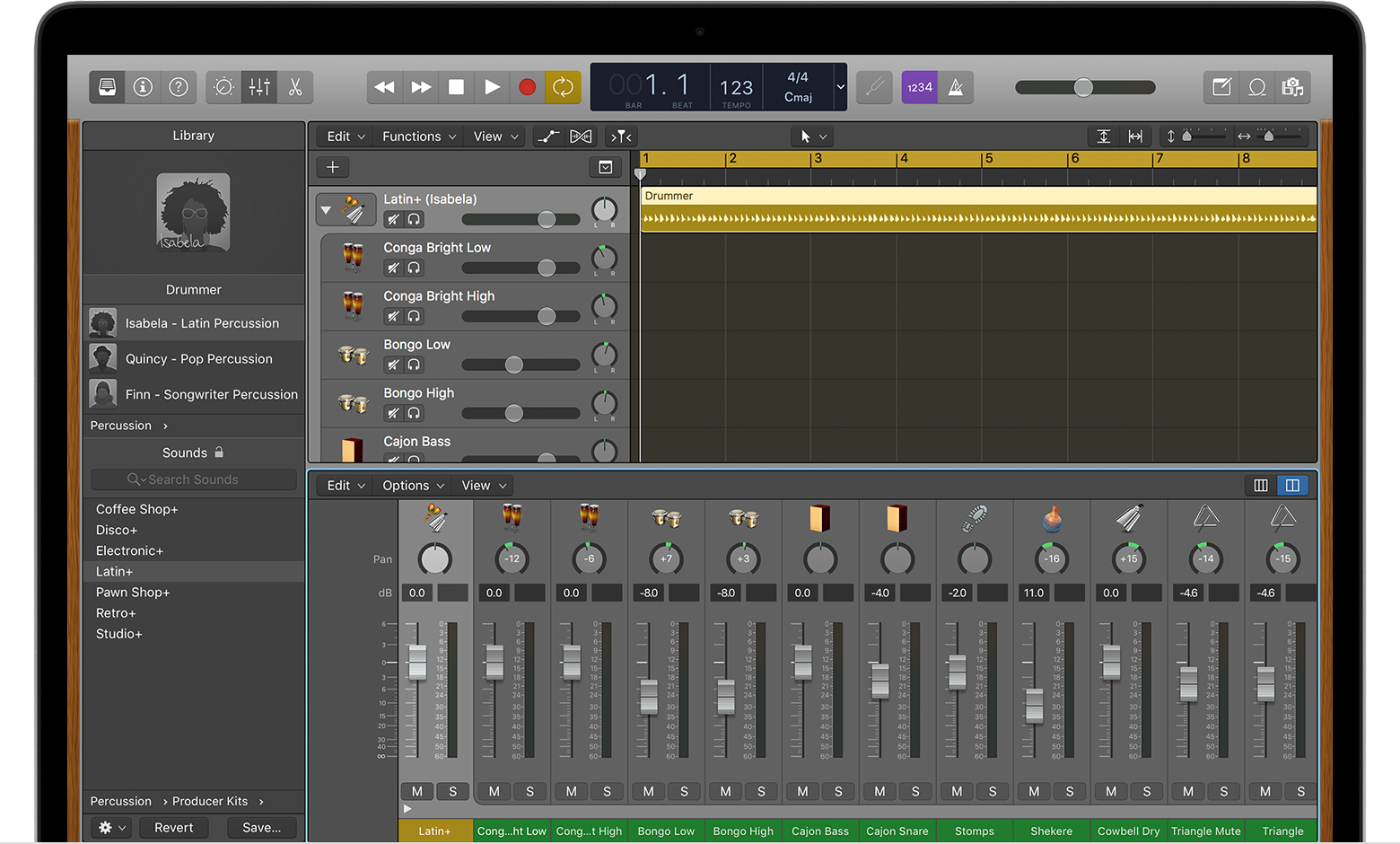 Work with percussionists in Logic Pro X - Apple Support