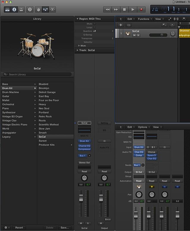 Logic Pro X:Producer Kit を使...