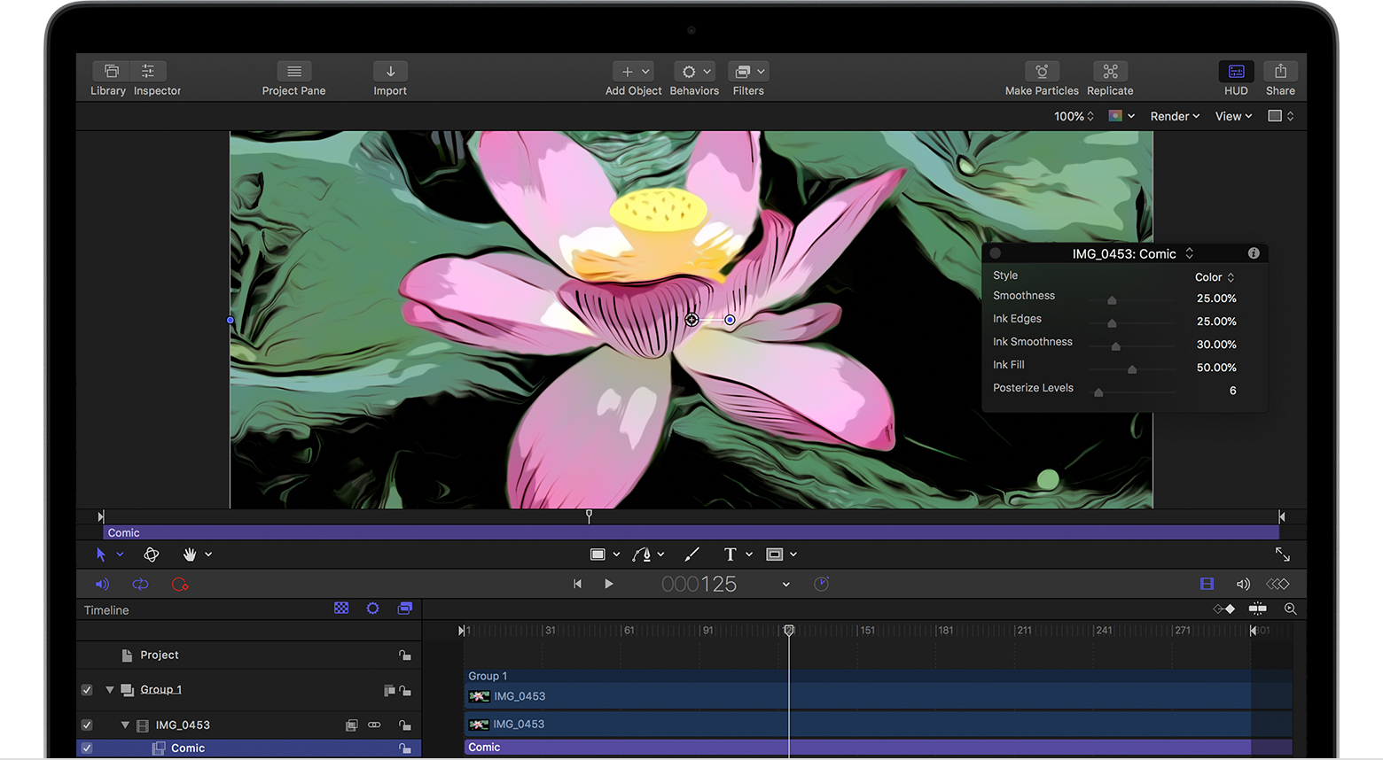 Use the Comic filter in Final Cut Pro X and Motion - Apple