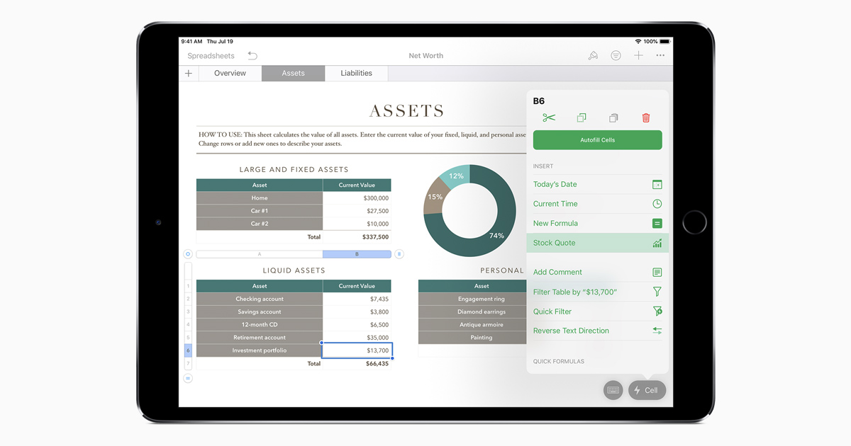 Add Current Stock Quotes And Currency Exchange Rates Into Your