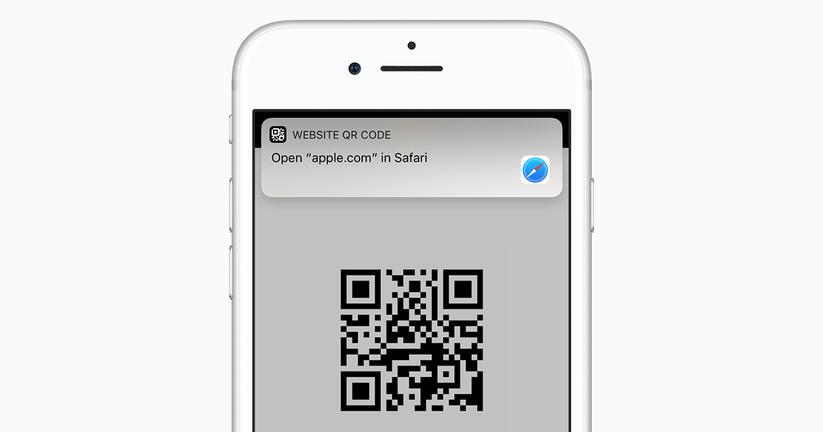 Scan a QR code with your iPhone, iPad, or iPod touch - Apple