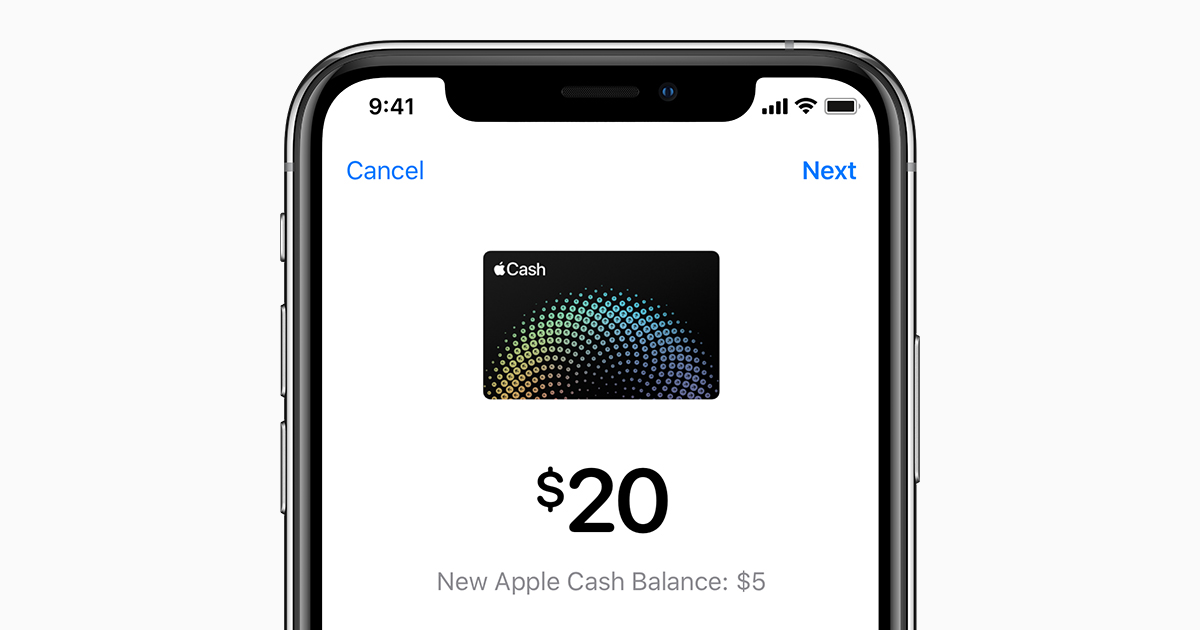 Transfer money from Apple Cash to your Visa debit card or
