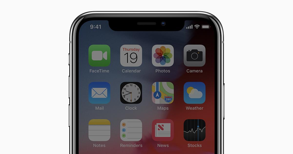 Del av skärmen svart iphone