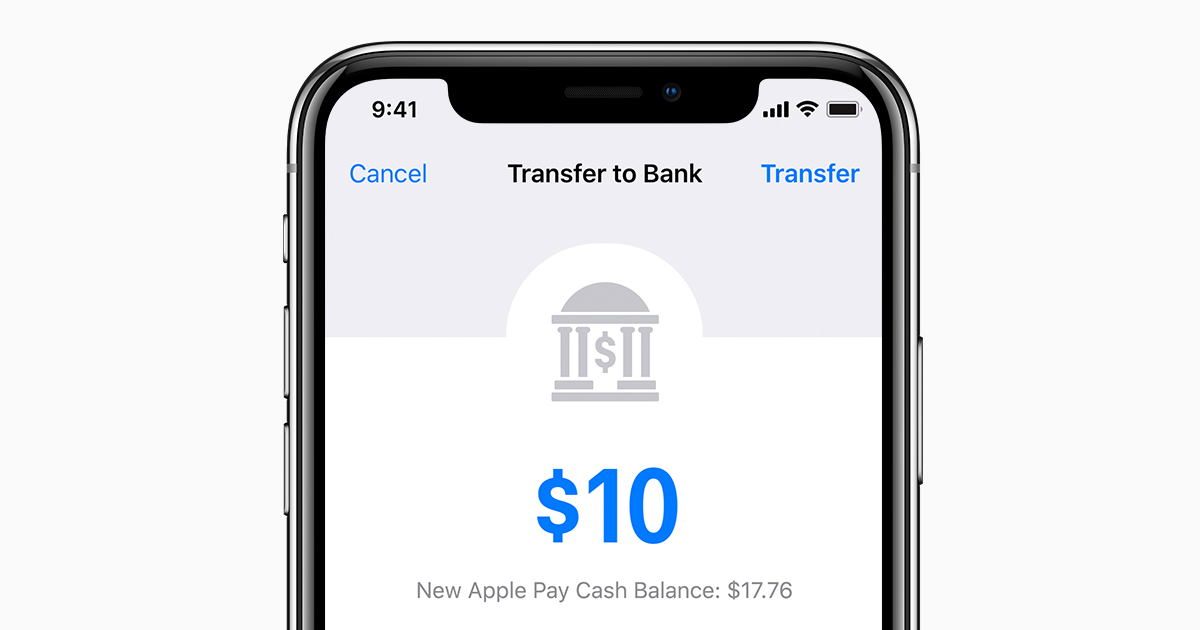 Transfer money from apple pay cash to your bank account apple support reheart Images