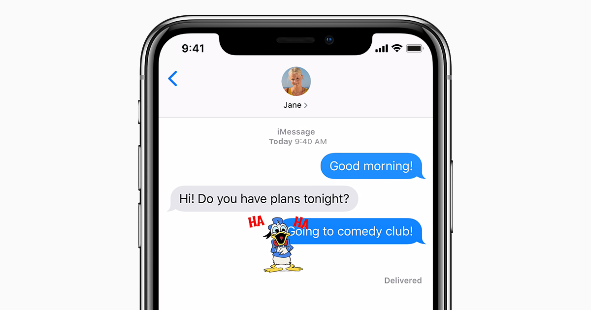 Imessage Iphone X