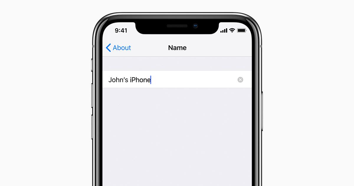 23267687b Modification du nom de votre iPhone, iPad ou iPod - Assistance Apple
