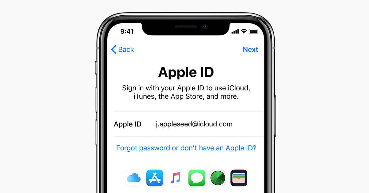 Sign in with your Apple ID - Apple Support