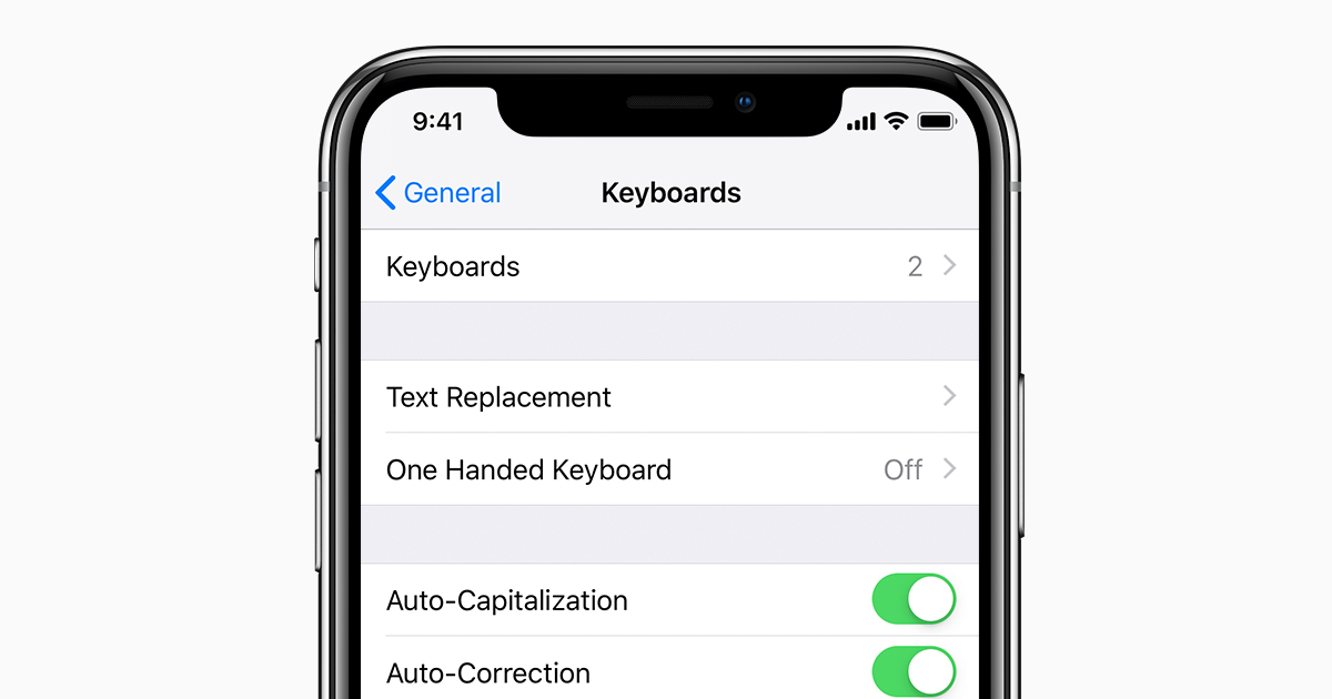 About the keyboards settings on your iPhone, iPad, and iPod
