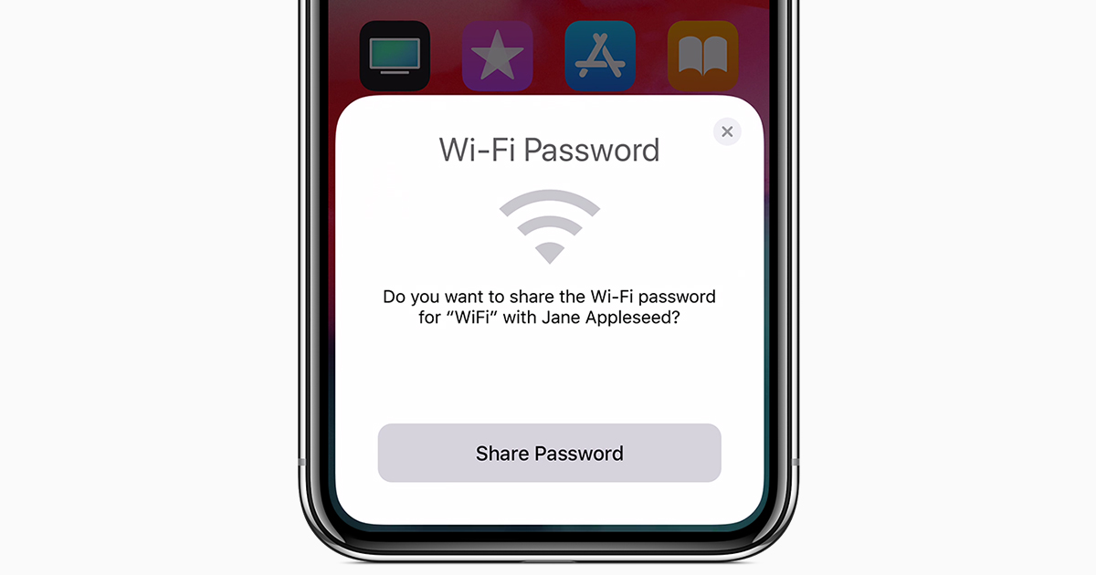 Share your Wi-Fi password from your iPhone, iPad, or iPod