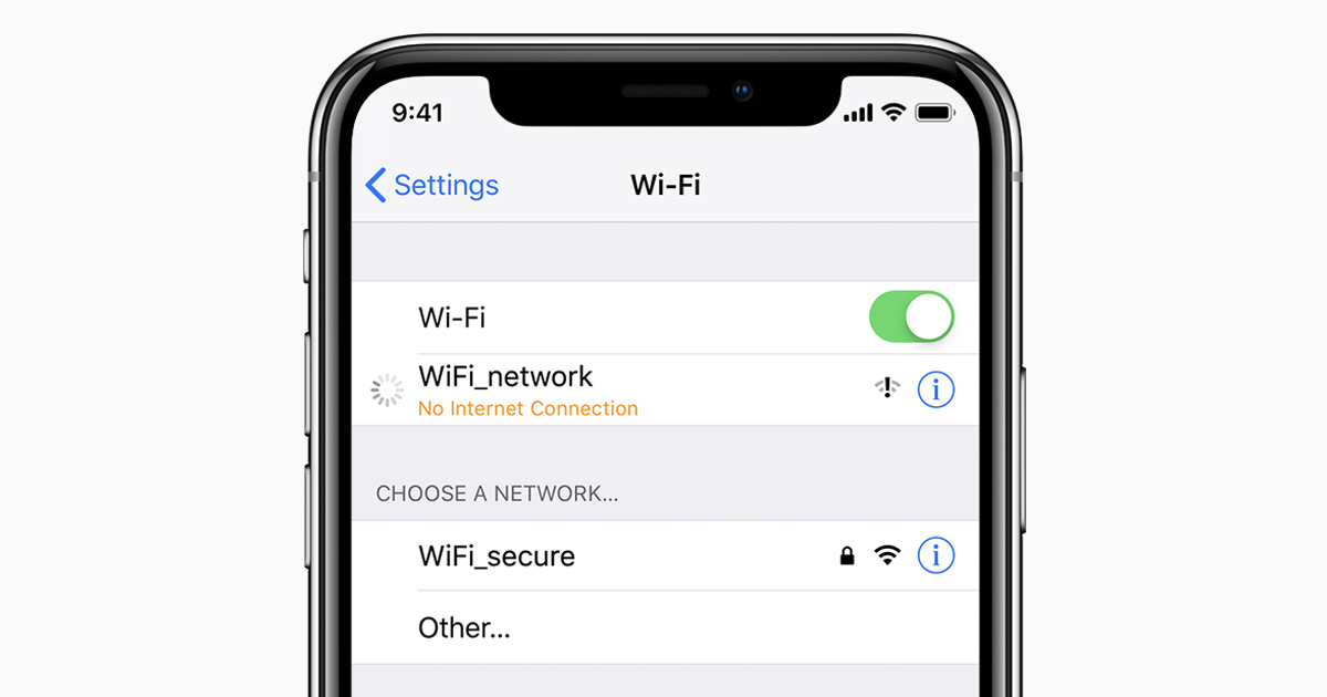 wifi cant connect to this network iphone
