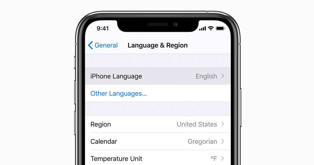 Change the language on your iPhone, iPad, or iPod touch - Apple ...