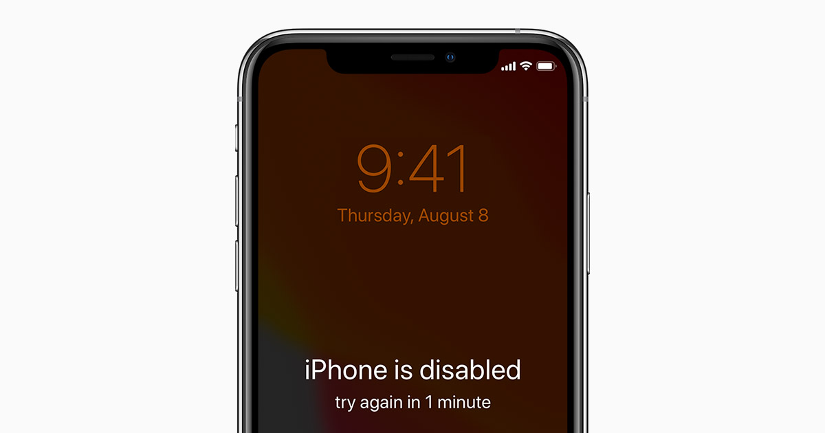 iphone disable