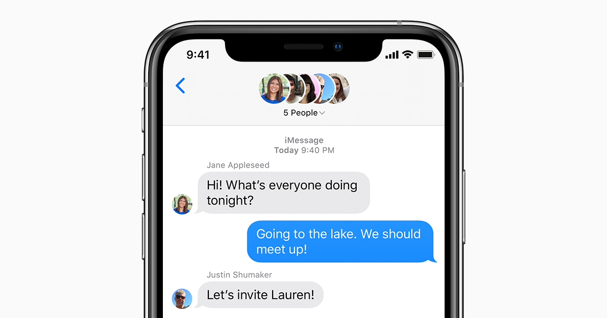 iMessage conversations on iPhone, iPad