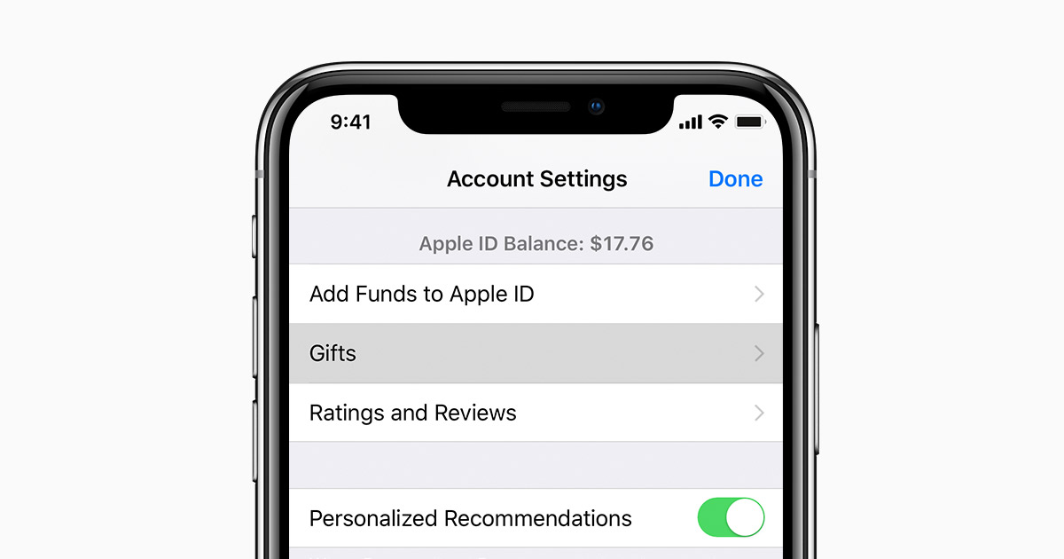 Resend App Store & iTunes Gifts - Apple Support