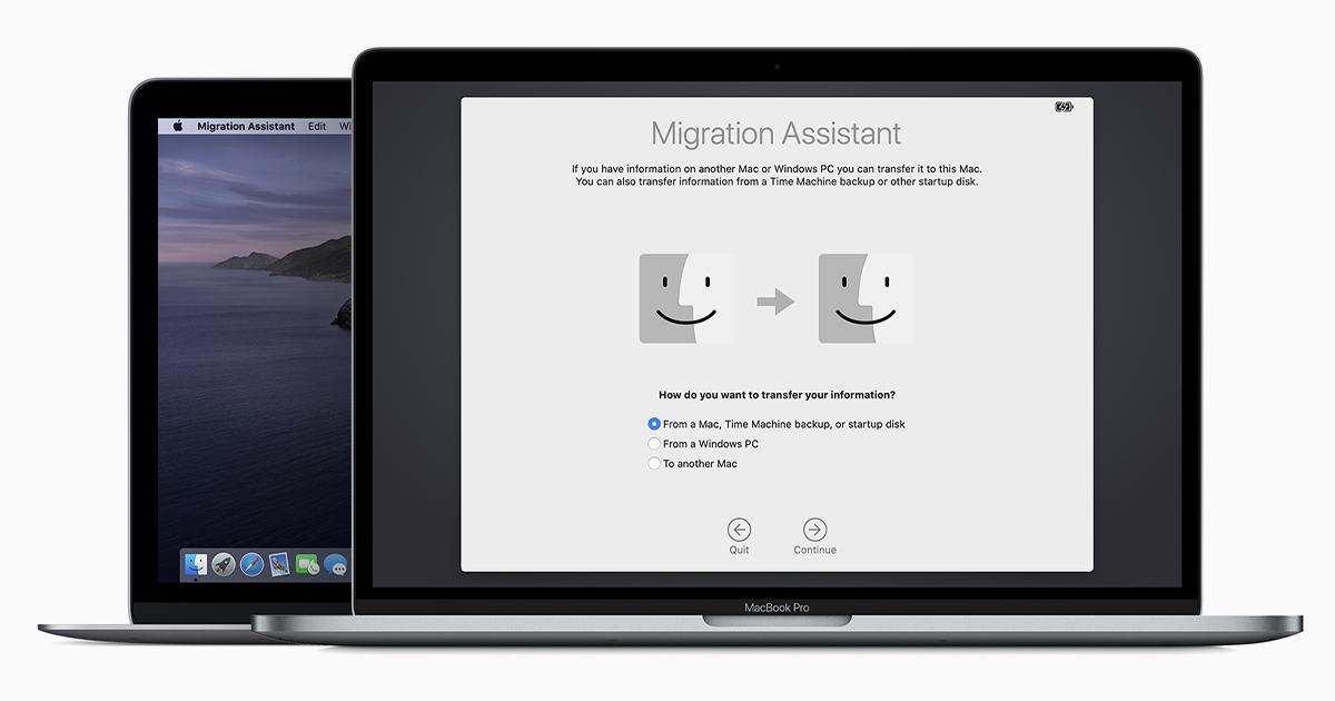 コンテンツを新しい Mac に移行する方法