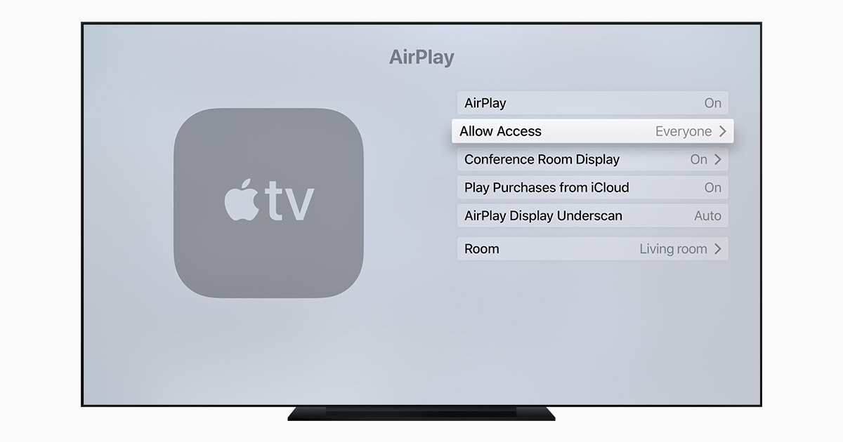 Manage AirPlay settings on your Apple TV - Apple Support