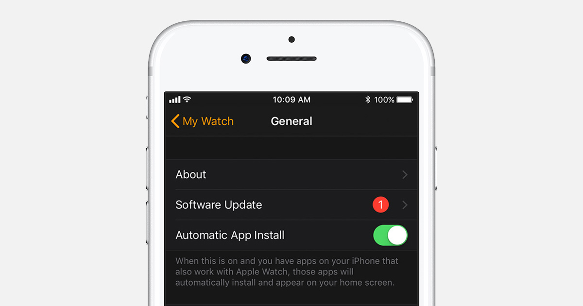 Issues updating apple watch