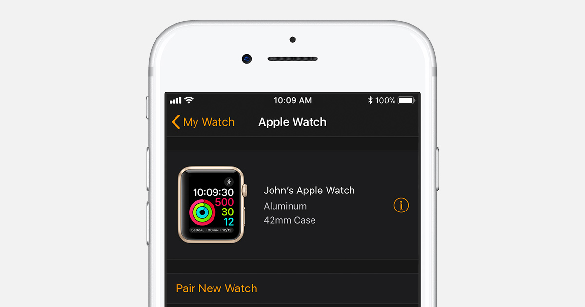 Pair apple watch with new iphone xs