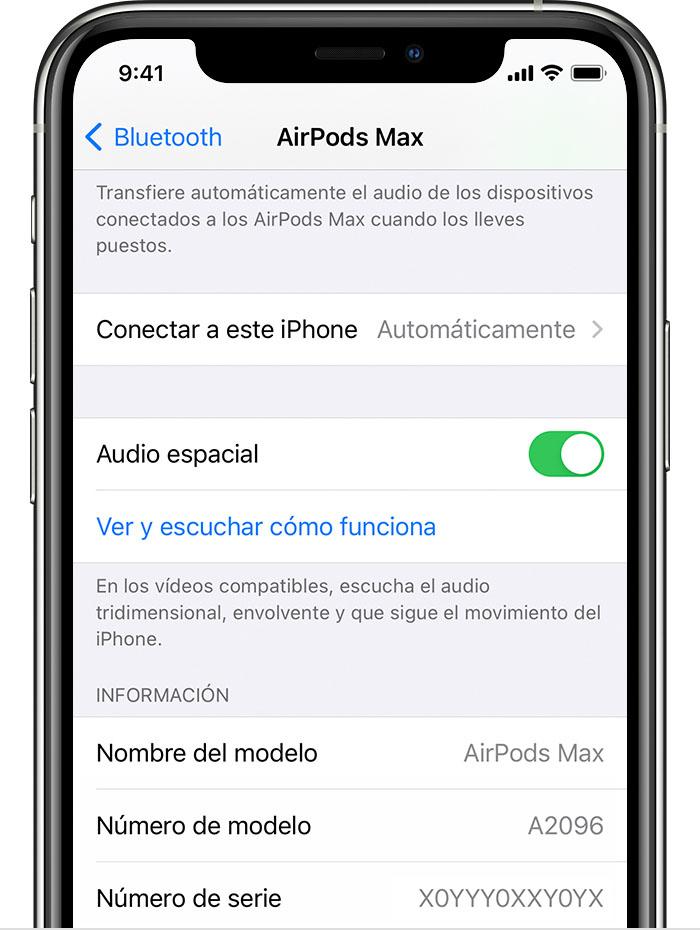 Ajustes de Bluetooth