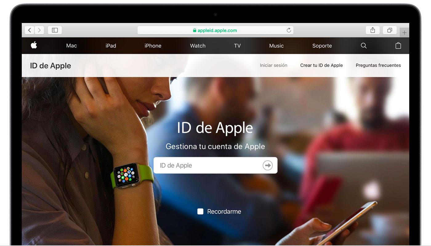 Gestionar Y Usar El Id De Apple Soporte Tecnico De Apple