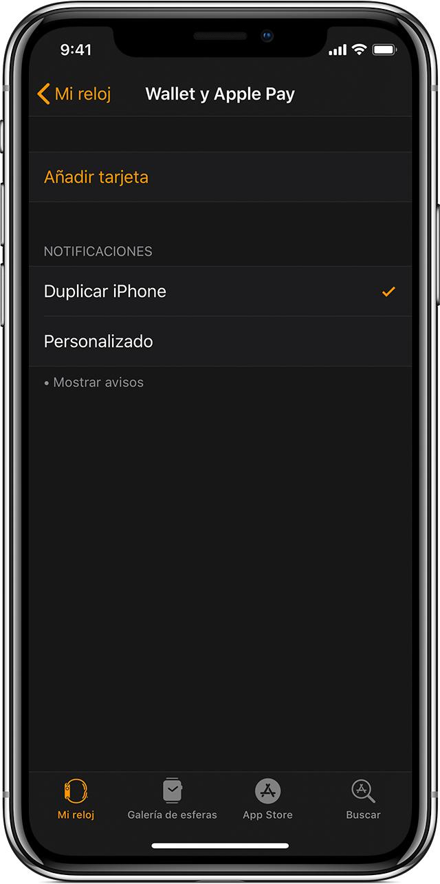 Añadir una tarjeta a Wallet y ApplePay en el AppleWatch