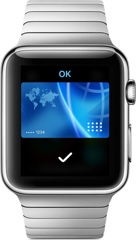 Pagar con la pantalla del Apple Watch
