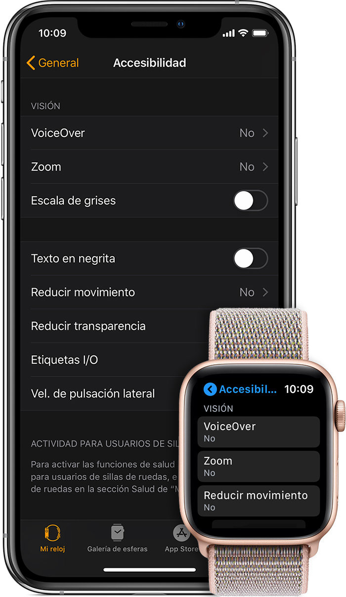 Ajustes de accesibilidad en el iPhone y el Apple Watch