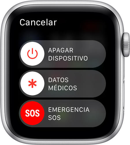 Regulador Emergencia SOS en el Apple Watch.