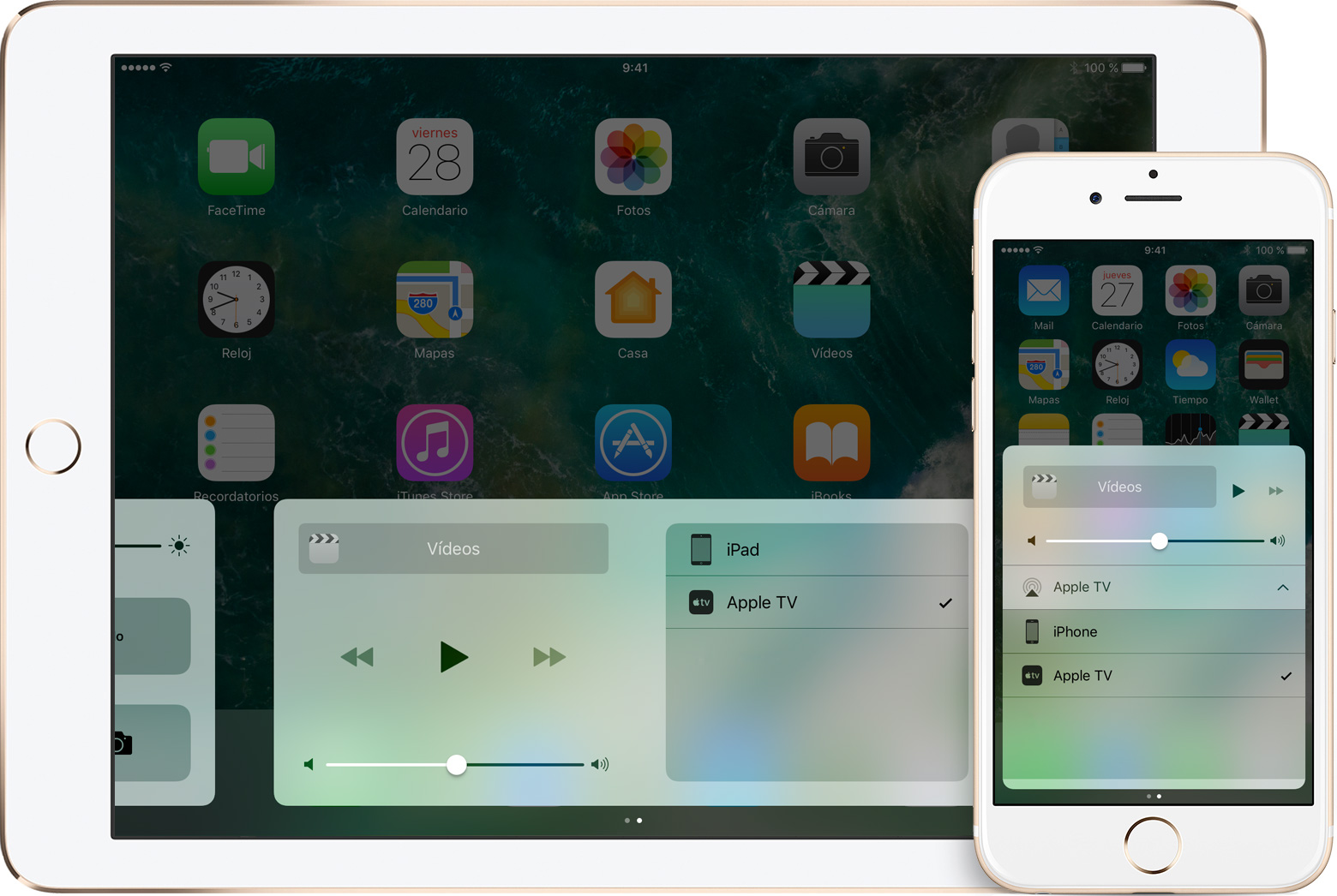 AirPlay en iPad y iPhone
