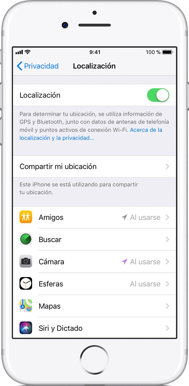 d2e3c0b2f Activa o desactiva la Localización y el GPS en el iPhone, iPad y ...