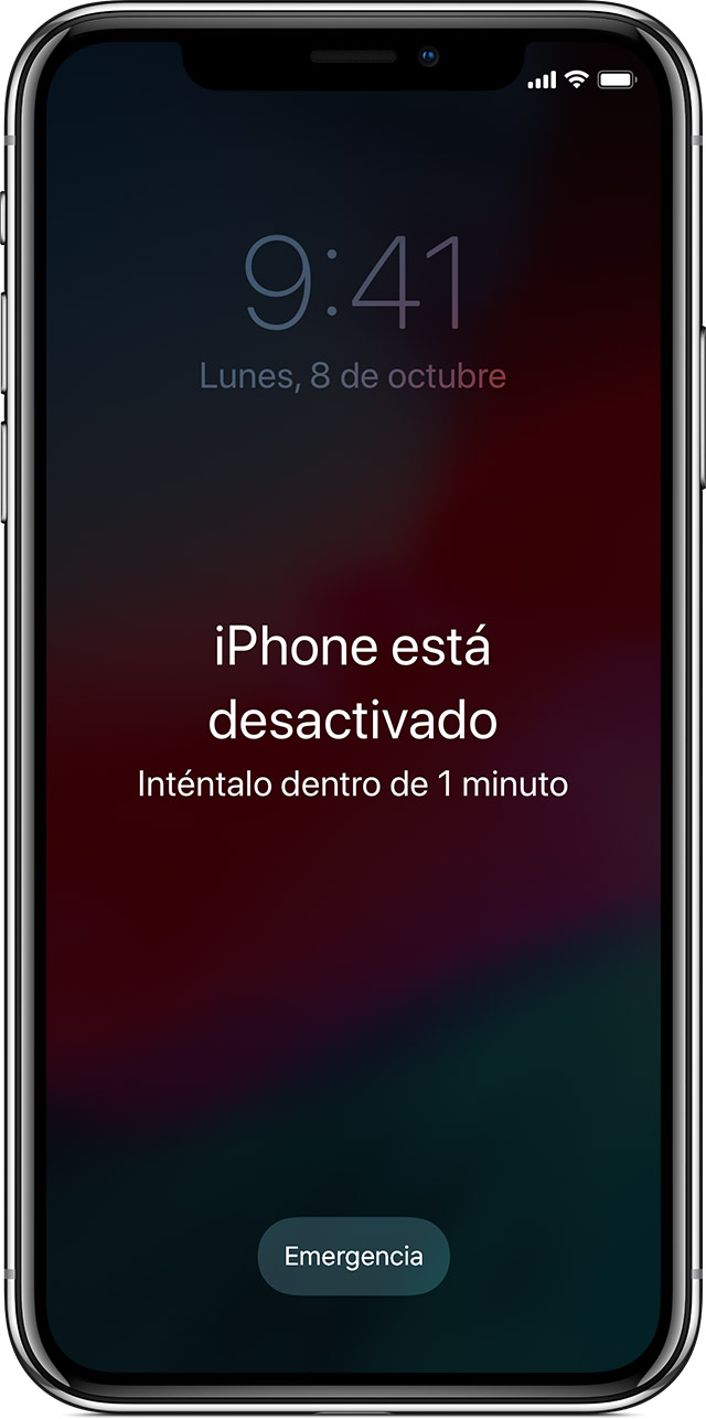RECUPERAR IPHONE CUANDO PASSCODE OLVIDADO